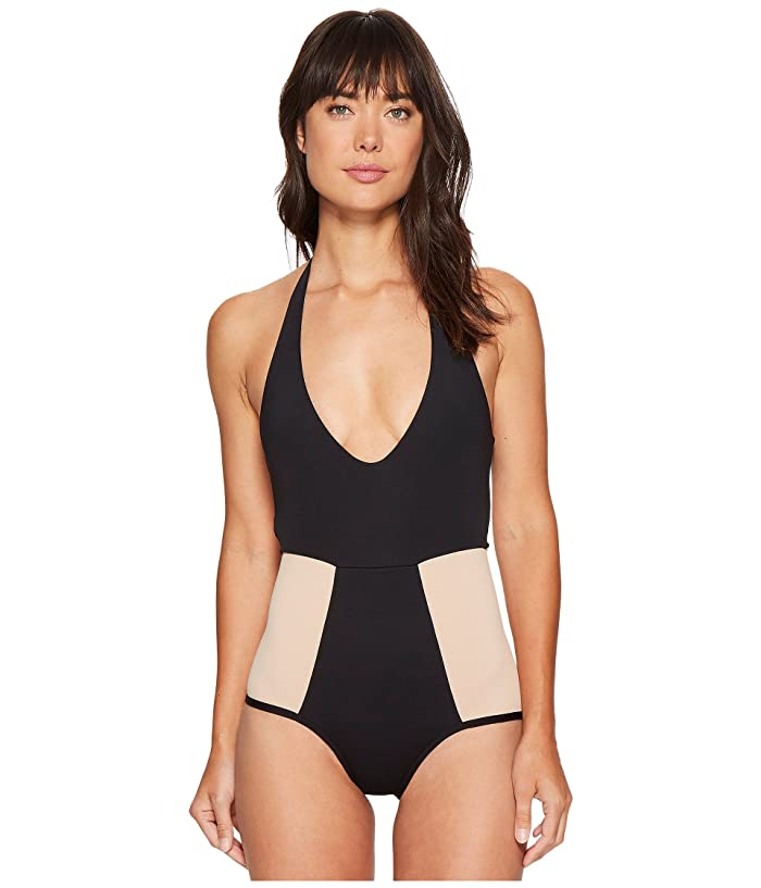L*Space Fireside Color Block One-Piece (Black/Skin) Women