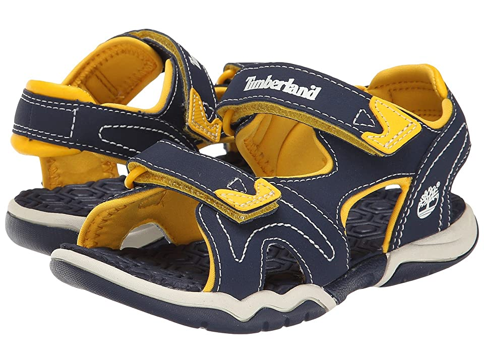 Timberland Kids Adventure Seeker 2 Strap Sandal (Little Kid) (Navy/Yellow) Kids Shoes