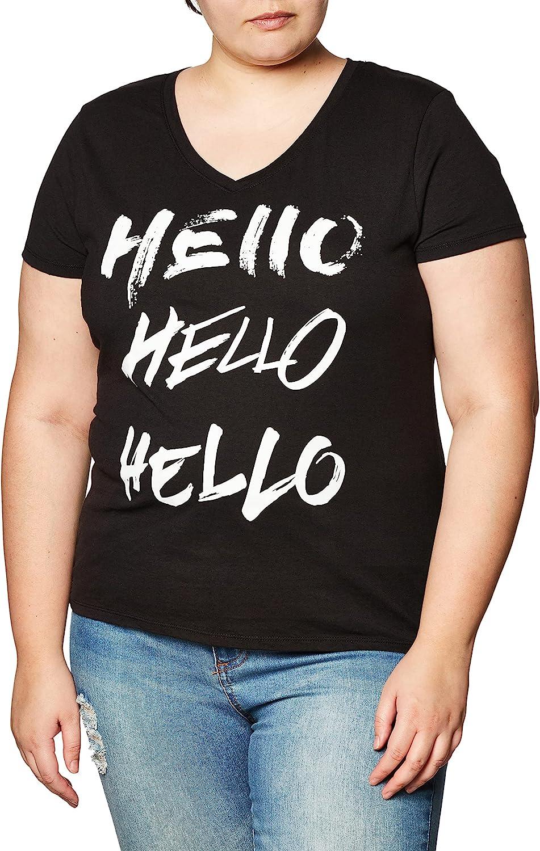 Hanes Women's Short Sleeve V-Neck Tee (Multiple Graphics Available) T-Shirt