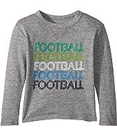 Soft Tri-Blend Football Long Sleeve Crew Neck Tee (Toddler/Little Kids)