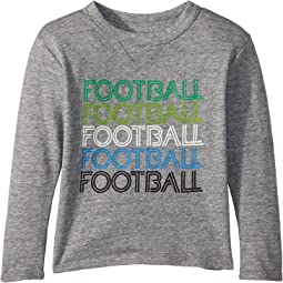 Soft Tri-Blend Football Long Sleeve Crew Neck Tee (Toddler/Little Kids)