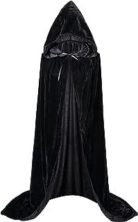 Unisex Extra Long Hooded Velvet Halloween Costumes Cloak Cape 63inch