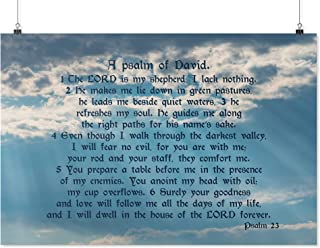 Christian Gift The Lord is My Shepherd, I Lack Nothing - A Psalm 23 of David Bible Verse Poster