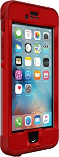 Lifeproof NÜÜD SERIES iPhone 6s ONLY Waterproof Case - Retail Packaging - CAMPFIRE (FLAME RED/CLEAR/KICKFLIP RED)