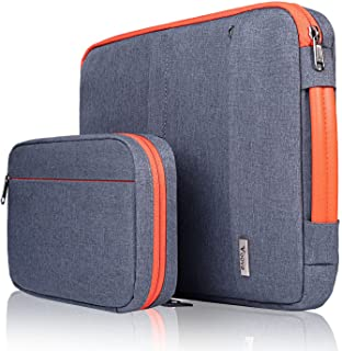Voova 14-15.6 Inch Laptop Sleeve Case with Detachable Accessory Pocket, Waterproof Computer Carry Bag Cover Compatible wit...