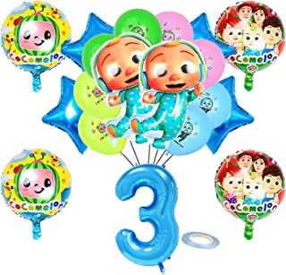 19 Pcs Kids Party Balloons Birthday Party Supplies, Aluminum Foil Balloons, 3 Years Old Party Decorations, 3 Years Old Bir...