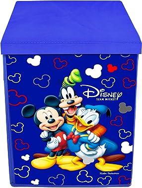 Kuber Industries Disney Team Mickey Print Non Woven Fabric Foldable Laundry Basket, Toy Storage Basket, Cloth Storage Basket
