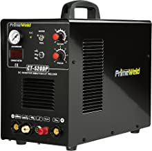 PrimeWeld Pilot Arc 50A Plasma Cutter, 200A TIG/Stick Welder Combo, Multipurpose Welding Machine for Home or Jobsite Use w...