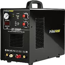 PRIMEWELD CT520DP Pilot Arc 50A Plasma Cutter /200A Tig/Stick Welder Combo welding machine with 1/2 Inch Clean Cut Plasma