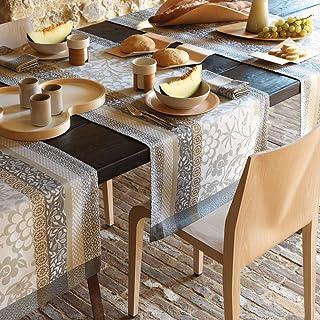 LE JACQUARD FRANÇAIS - Chemin de Table Provence Calisson 100% Coton - Rectangulaire - 55 x 150 cm