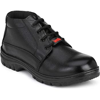 Kavacha Pure Leather Steel Toe Safety Shoe, S65 Size : 8