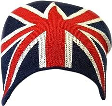 Mens Great Britain Union Jack Flag Winter Beanie Hat