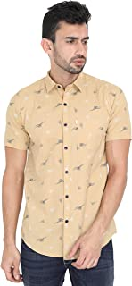 Asian & Fitch Men Casual Slim Fit Cotton Half Sleeves Printed Shirt