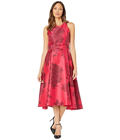 Tahari by ASL Printed Jacquard Sleeveless Party Dress (Black Ruby Floral) Women