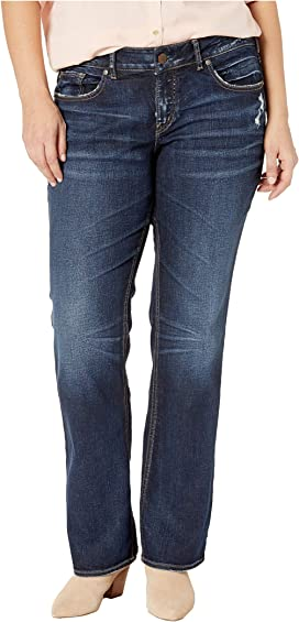 4501bd8e Plus Size Elyse Mid-Rise Eased Curvy Slim Boot Jeans in Indigo W03601SSX415