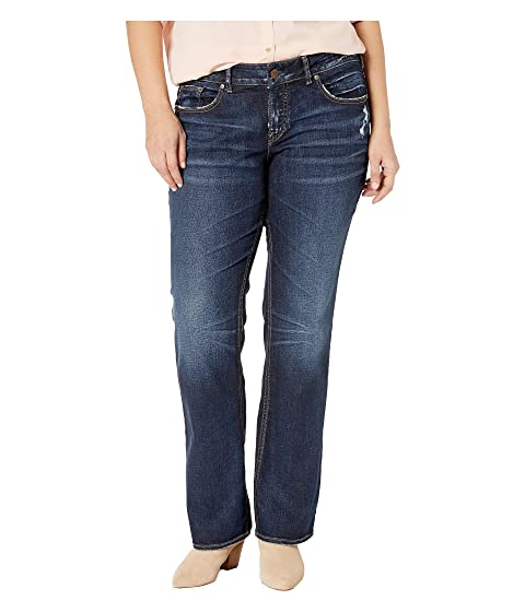 26a9c27520d Silver Jeans Co. Plus Size Elyse Mid-Rise Eased Curvy Slim Boot Jeans in  Indigo
