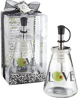 Best olive you glass love oil bottle Reviews