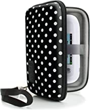 USA Gear WiFi Hotspot Portable Mobile Carrying Case with Detachable Security Wrist Strap  Rain Protection  Scratch Resistant  Lanyard Included Compatible with Wi-Fi Mobile Hotspots Polka Dot