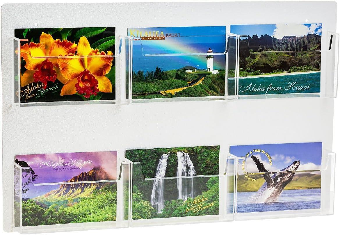 SOURCEONE.ORG Multiple Pocket Deluxe Clear shopping Postcard Displ Holder Popular popular