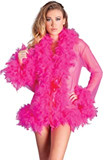 Be Wicked Kimono mit Federn - pink
