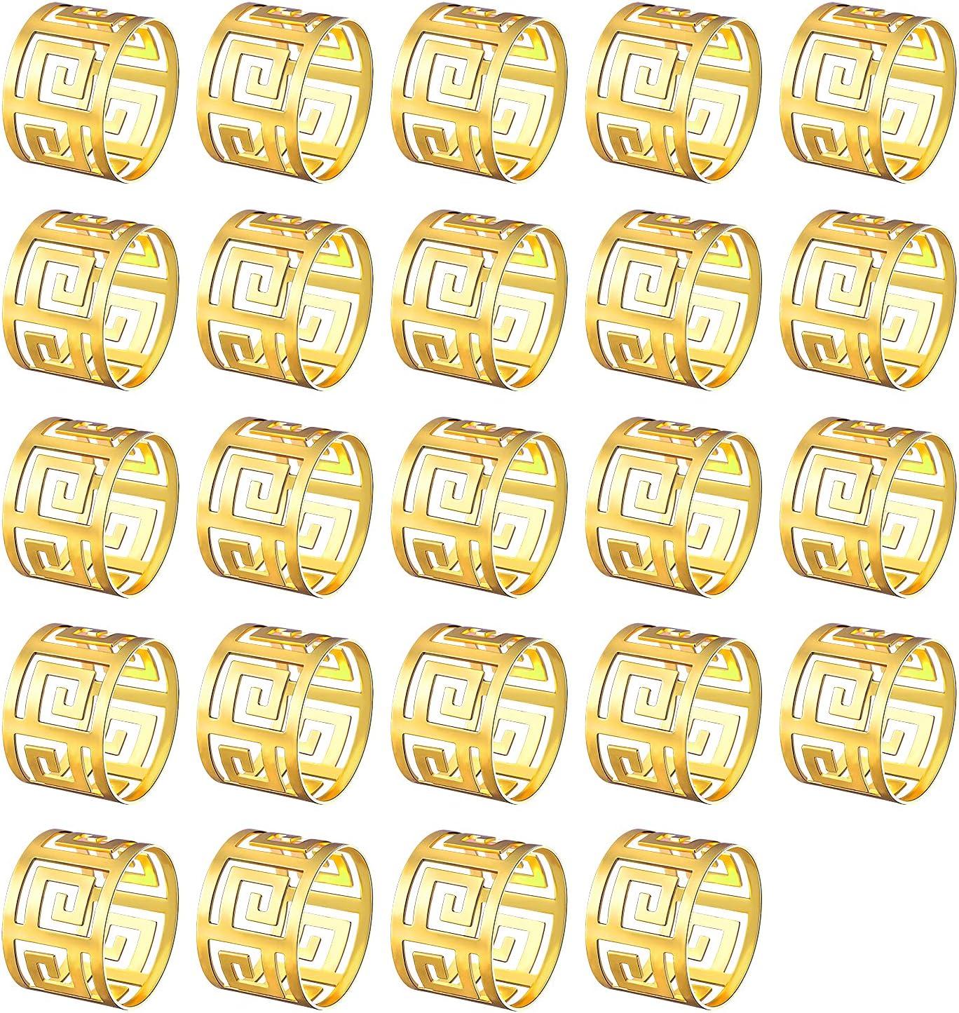 sale JERTOCLE Trust Napkin Rings-Metal Serviette Napki Holder -Round