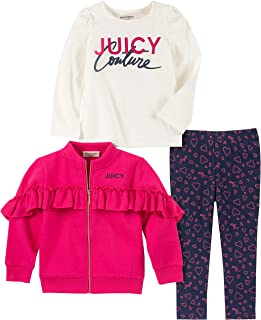 Juicy Couture Baby Girls 3 Pieces Jacket Pants Set