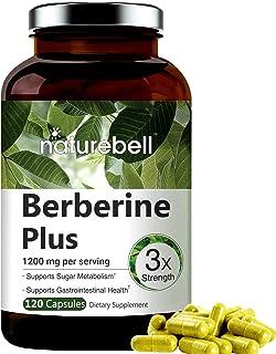 Maximum Strength Berberine Plus, 1200mg Per Serving, 120 Capsule, Powerfully Supports Glucose Metabolism, Immune System, F...