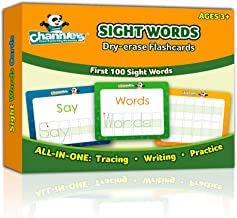 """Channie's Visual Dry Erase Flashcards for Pre-K Through First Grade Students' to Learn to Trace, Practice &Write their First 100 Sight Words, Ages 3+, 5.5"""" x 4.25 """""""