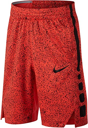 Nike Elite Basketball Dry-Fit courtes Max Orange noir (X-petit)