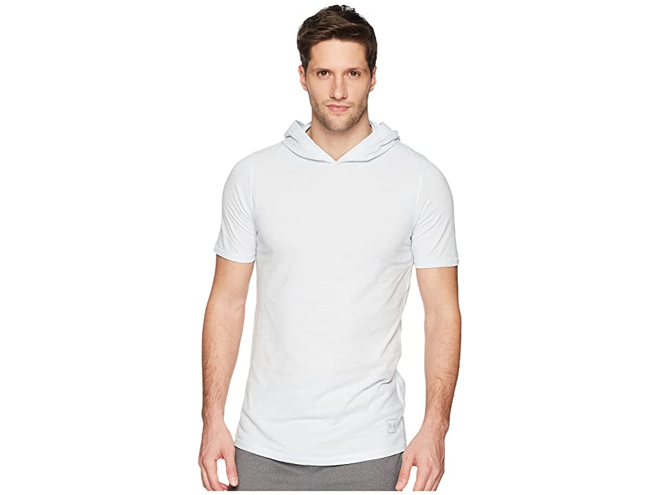 Under Armour Sportstyle Core Short Sleeve Hoodie (White/Overcast Gray) Men