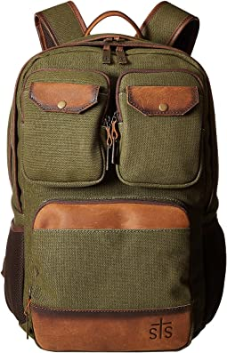 Military Green Canvas/Brown Leather