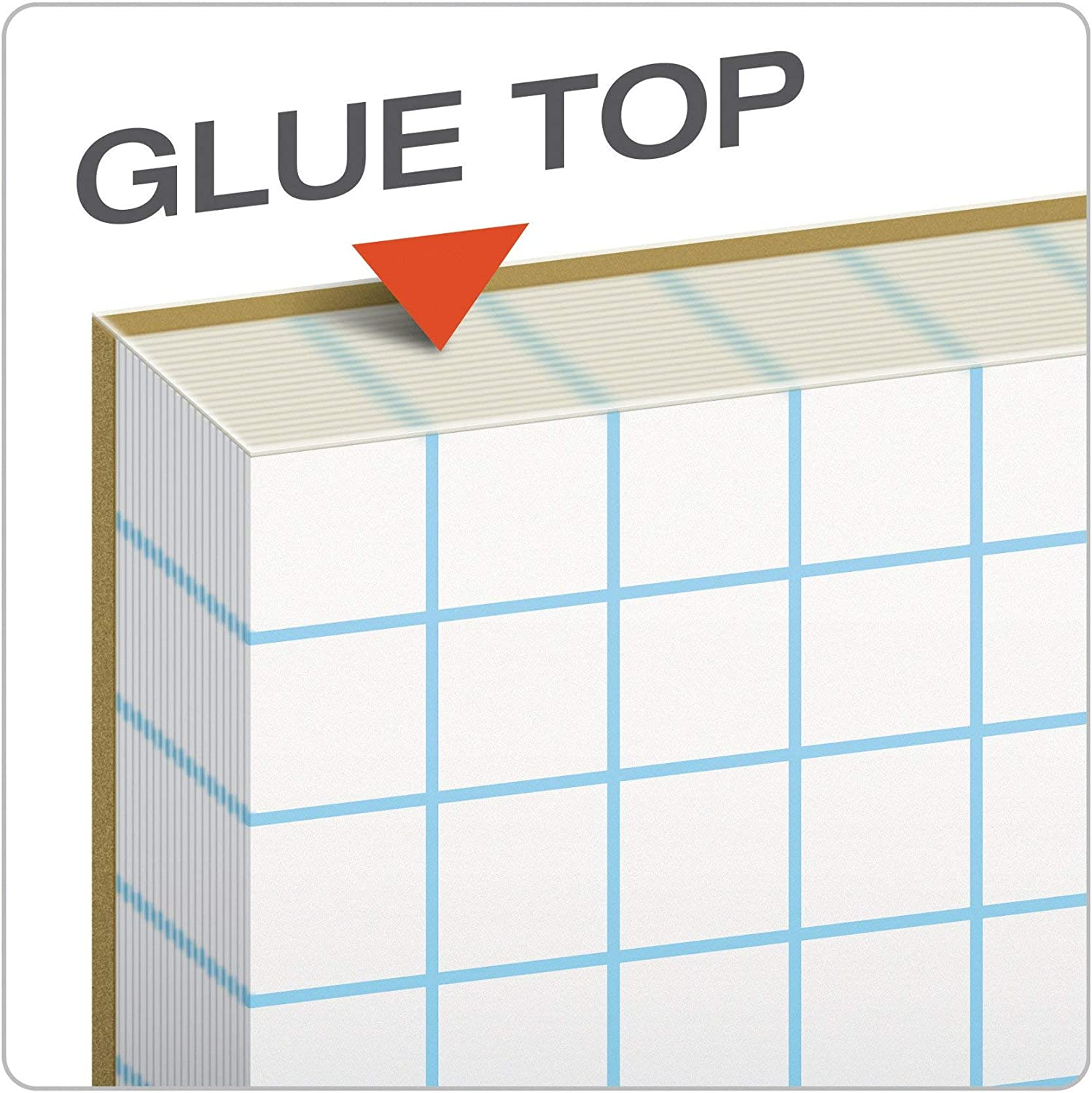 Graph Rule Cross-Section Pads 10 x 10 50 Sheets Glue Top 8-1//2 x 11