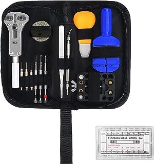 Kurtzy Kit Reparation Montre (319 Pièces) - Outil Montre Professionnel avec Etui de Transport - Kit Montre avec Outils de ...