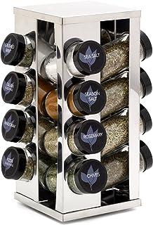 Kamenstein 5084920 Heritage 16-Jar Revolving Countertop Spice Rack Organizer with Free..