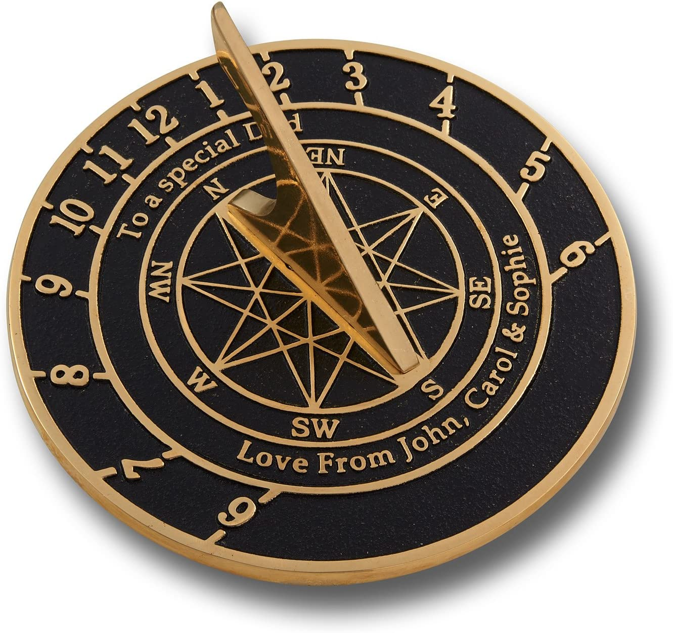 The Genuine Metal Foundry Personalized Large Sundial Gift. Price reduction Brass English
