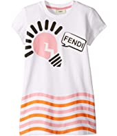 Fendi Kids - Short Sleeve Logo Light Bulb Graphic T-Shirt (Little Kids)