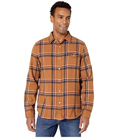 The North Face Long Sleeve Arroyo Flannel Shirt (Cedar Brown Gully Plaid) Men