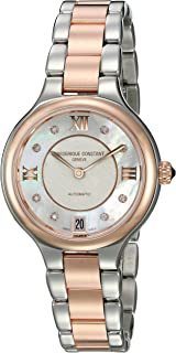 Frederique Constant Women's Delight Automatic-self-Wind Watch with Stainless-Steel Strap, Two Tone, 13 (Model: FC-306WHD3ER2B)