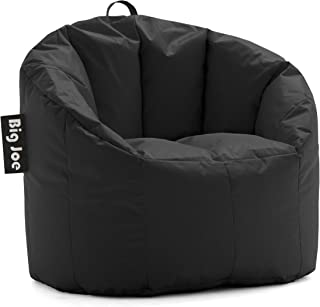 Big Joe Milano Bean Bag Chair, Regular, Smartmax Stretch Limo Black