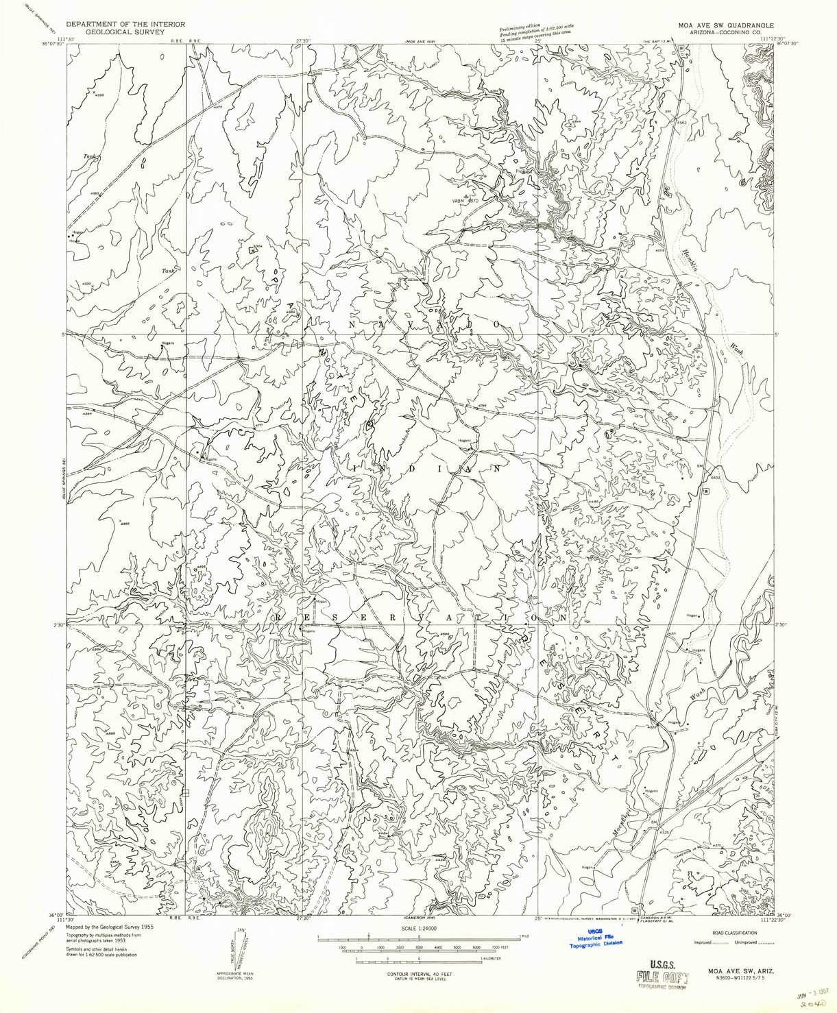 YellowMaps Moa Ave SW AZ topo Same day shipping low-pricing Scale 1:24000 X 7.5 Minu map