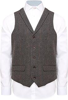 HARRY BROWN Men's Waistcoat Wool Blend