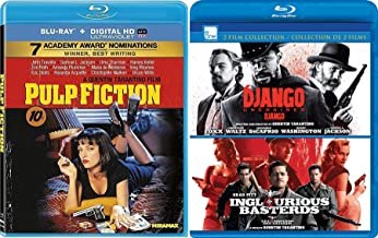 Fiction Basterds Pulp Django Inglorious unchained [Blu-ray] Quentin Tarantino Set Triple Feature 3 movie set
