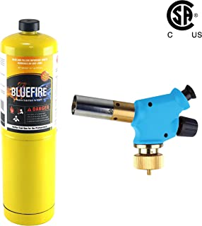 MR.TORCH Handy Cyclone Propane Torch Head,Trigger Start Push Button Piezo Ignition,Fuel by Propane MAPP MAP PRO Gas,CSA Certified.Welding,Soldering,Brazing,Cooking,Glass Beads DIY (Kit with MAPP Gas)