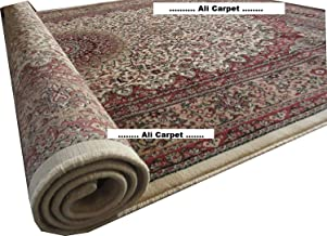 CARPETS NEW BRAND HIGH QUALITY TRADITIONAL DESIGN WITH O.5 INCH PILE HIGHT 8 X 11 FEET ( 240X 330CM ) COLOR IVORY MULTI