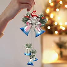 TIED RIBBONS Christmas Bells for Hanging Christmas Decorations Items Hanging Bells for House Door Wall