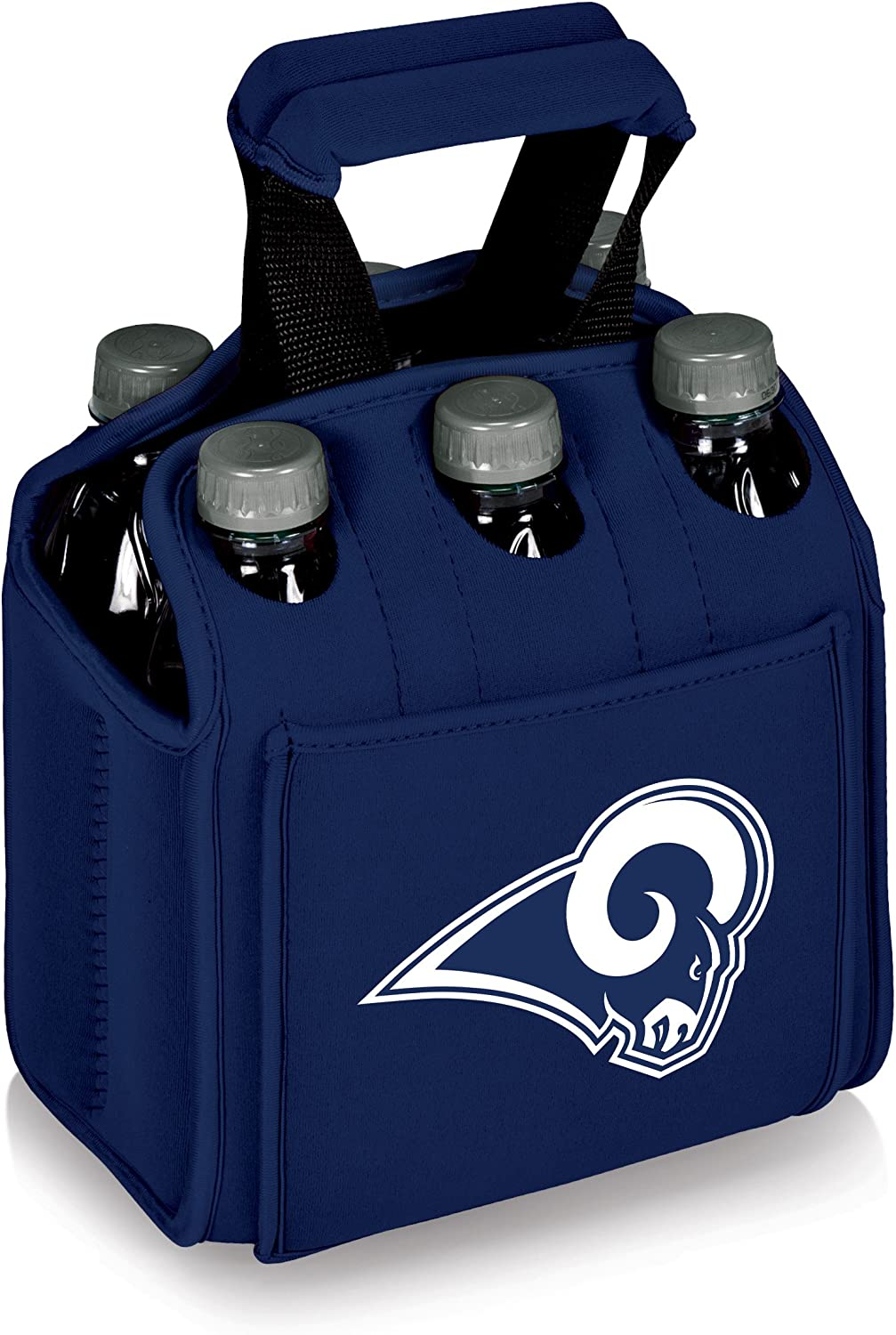 NFL Los Angeles Rams Six Pack Insulated Cooler Tote, Navy