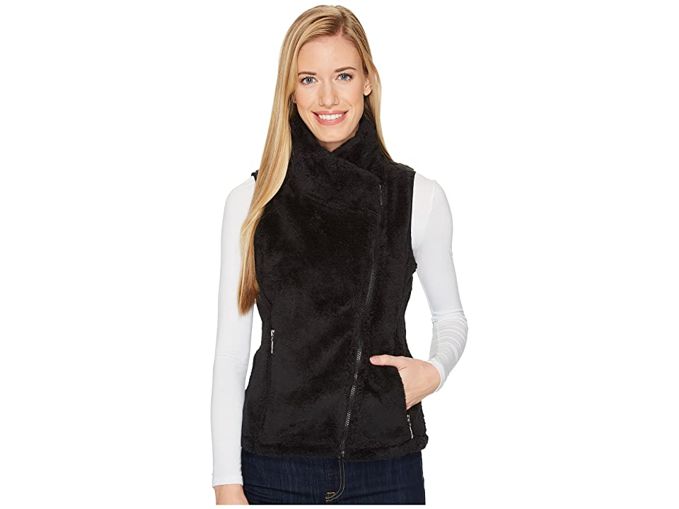 Mountain Khakis Wanderlust Fleece Vest (Black Solid) Women