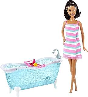 Barbie Doll and Bathtub Playset, Brunette