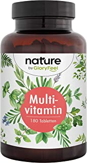 MULTIVITAMIN - Omfattande Sammansättning av Vitaminer - Hög Bioaktivform och Premiumingredienser - 180 Tabletter