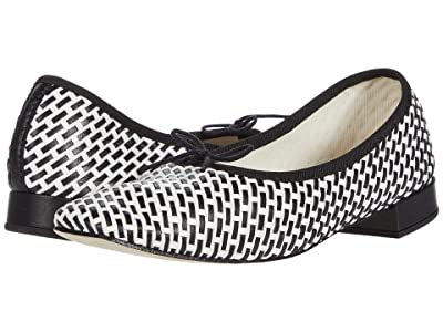 Repetto Danse Square Toe Flat (Black/White Metis Tresse) Women